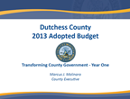2013 Adopted Budget Cover