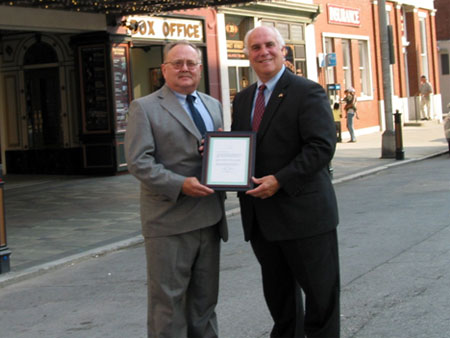 County Executive William R. Steinhaus Accepts Preserve America Designation Letter  - photo 1