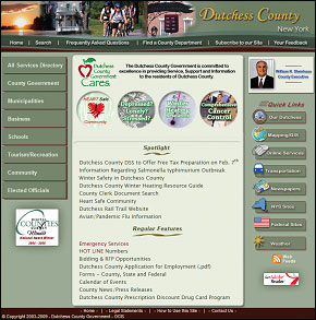 Homepage of Dutchess County Website image