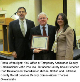Michael Soltish of Social Services receives statewide award