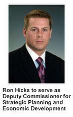 Ron Hicks Deputy Commissioner for Strategic Planning & Economic Development image