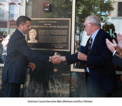 Dutchess County Executive Marc Molinaro and Ross Pattison