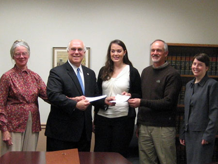 County Executive Presents Check to Stephen Abel   - photo 1