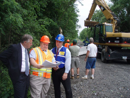 County Executive Steinhaus Reviews Signage Locations Along the Future Dutchess Rail Trail - photo 1