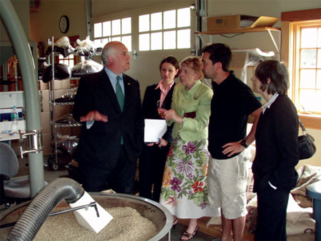 County Executive Steinhaus Touring  Irving Farm Coffee Company's Operations in Millerton - photo 1