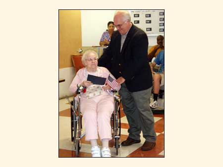 County Executive and WWII Veteran Honoree at Medal Ceremony  - photo 1