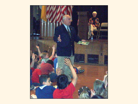 County Executive William R. Steinhaus with Students at JV Forrestal Elementary School   - photo 1