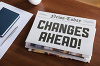 Newspaper graphic - Headline: CHANGES AHEAD!