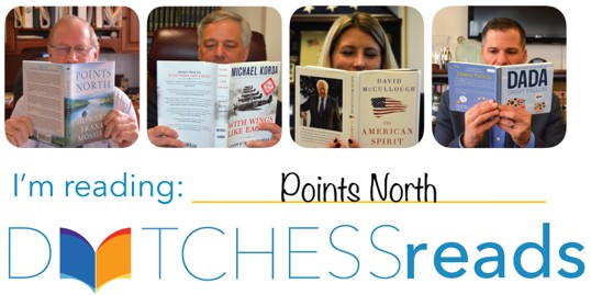 """""""I'm Reading"""" Dutchess Reads - image showing various County employees reading"""