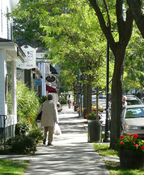 Tree lined street - walkable communities