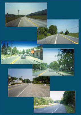 Collage of images of Rt. 22 corridor