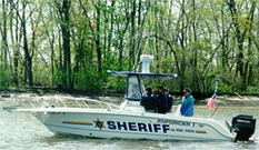 Sheriff's Office Enforcer boat on patrol