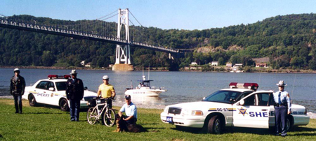 Sheriff personnel and equipment (bicycle, boat, vehicles)