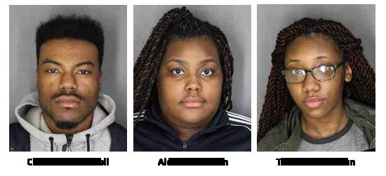 Sheriff's Office News Release Photos April 7, 2017 (L to R) Chavon C. Cotterell, age 24 of Poughkeepsie Aldasia I. Brown, age 17 of Poughkeepsie Tionne S. Stroman, age 17 of Poughkeepsie