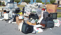 Household hazardous waste collection at DCRR