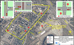 Fishkill Traffic Analysis Broad/Elm Streets Map