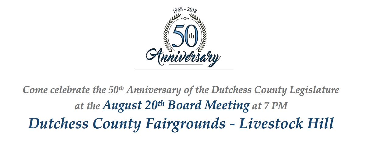 Dutchess County Legislature 50th Anniversary Header/Logo