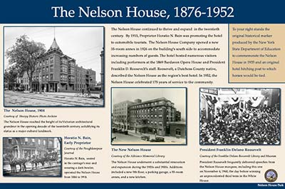 Nelson House Park - panel 2 of 3.  Click to download a high quality pdf of the panel