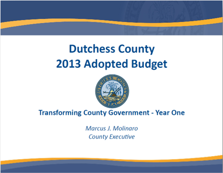 2013 Budget cover page