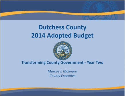 2014 Budget cover page