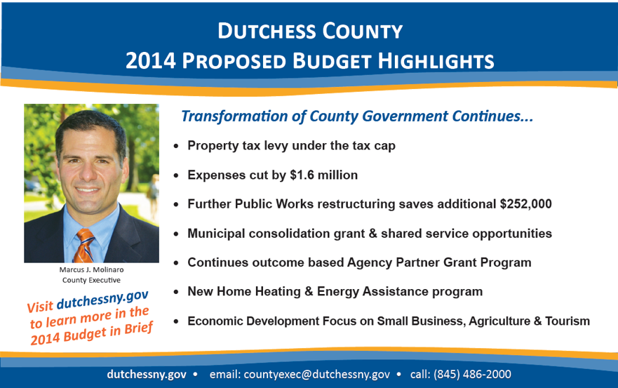 Dutchess County 2014 Proposed Budget Highlights