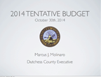 2014 Tentative Budget Cover page