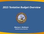 2015 Tentative Budget Overview