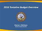 2016 Tentative Budget Overview