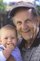 Image of man holding infant