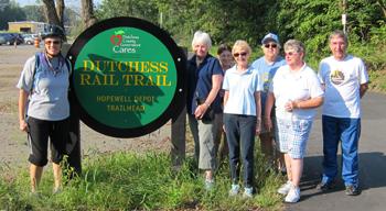 Senior Walking Group at Dutchess Rail Trail Hopewell Depot TrailHead