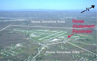 Image delineating noise sensitive areas