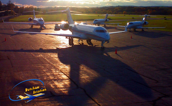Aircrafts on the tarmac at Dutchess Aviation