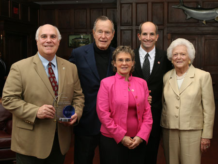 County Executive Steinhaus presented with the C-Change Exemplary Elected Official Award by President and Mrs. George H.W. Bush - photo 1