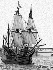 Half Moon Ship on the Hudson River