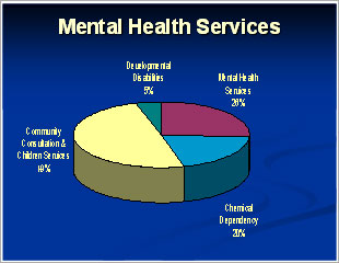 Graph of Mental Health Services