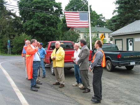 County Executive Steinhaus and Supervisor Raymon Oberly at Clinton Intersection - photo 1