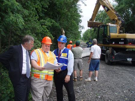 County Executive Steinhaus Reviews Signage Locations Along the Future Dutchess Rail Trail - photo 1