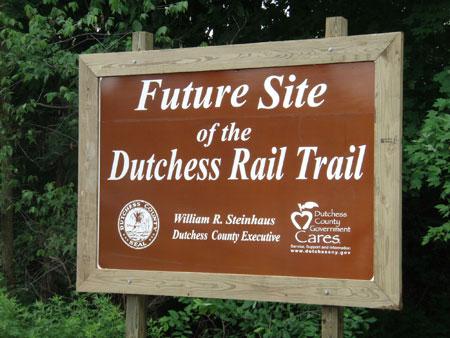 County Executive Steinhaus Reviews Signage Locations Along the Future Dutchess Rail Trail - photo 2