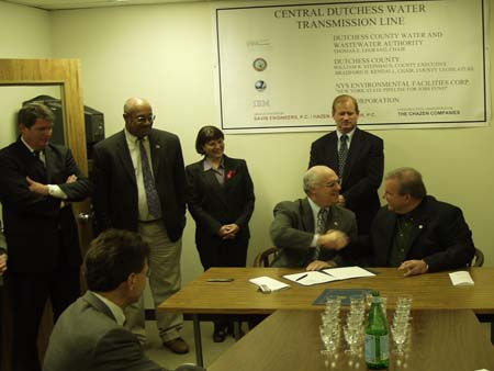 Signing Ceremony for Central Dutchess Water Pipeline Photograph   - photo 1