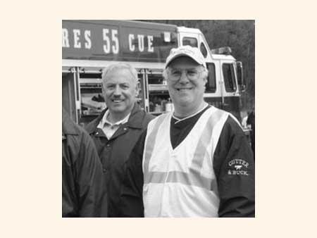 Response Coordinator DeWitt Sagendorph with County Executive Bill Steinhaus - photo 1