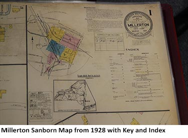 Millerton Sanborn Map from 1928 with Key and Index