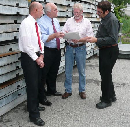 Charles Traver, County Executive Steinhaus, Robert Lamancuso, Legislator Surman