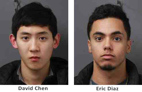 David Chen (age 19 of Action, Ma) and Eric Diaz (age 18 of NYC)