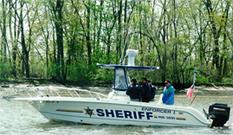 Sheriff's Office Enforcer boat on patrol