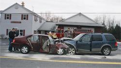 Crash Investigation Unit at scene of accident