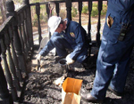 Fire Investigators gathering evidence