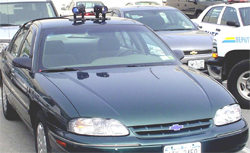 Sheriffs vehicle equipped with License Plate Recognition System (LPR)