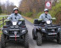 Officers on ATV patrol