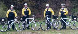 Officers on bike patrol