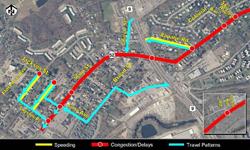 Fishkill Traffic Analysis Map of Rt. 52 area